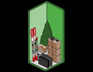 Box self storage piccolo 1mq ideale per sci e archivi aziendali