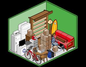 Box self storage medio 10mq per deposito mobili, scatole, archivi e attrezzatura sportiva