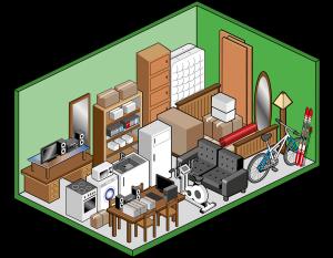 Box self storage grande 15mq per deposito mobili, scatole, archivi e attrezzatura sportiva