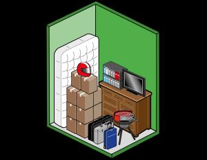 Box self storage piccolo 3mq per scatole, addobbi, attrezzatura sportiva e archivi