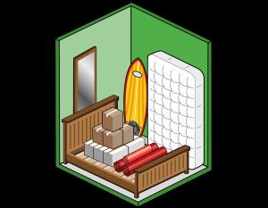 Box self storage piccolo per scatole, materasso, mobili e attrezzatura sportiva