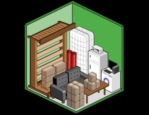 Box self storage medio 6mq per deposito mobili, scatole, elettrodomestici
