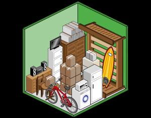 Box self storage medio 7mq per deposito mobili, scatole, archivi e attrezzatura sportiva