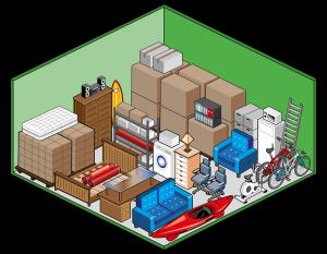 Box self storage grande per deposito mobili, scatole, archivi, elettrodomestici e attrezzatura sportiva